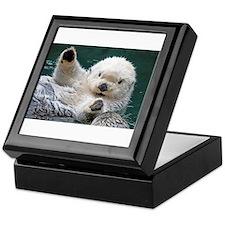 a white otter Keepsake Box