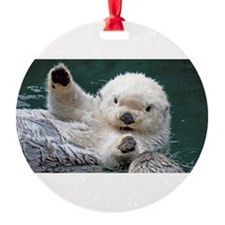 a white otter Ornament