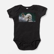 a white otter Baby Bodysuit