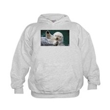 a white otter Hoodie