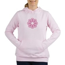 Retro Pink Flower Women's Hooded Sweatshirt