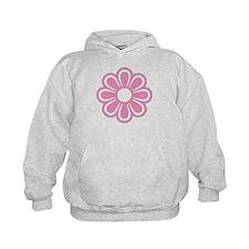 Retro Pink Flower Hoodie