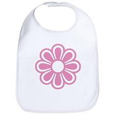 Retro Pink Flower Bib