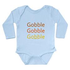 Cute Gobble Long Sleeve Infant Bodysuit