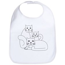 3 cat family Bib
