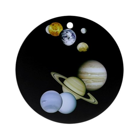 Our Solar System Christmas Tree Ornament (Round)