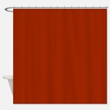 Solid Burnt Orange Shower Curtain