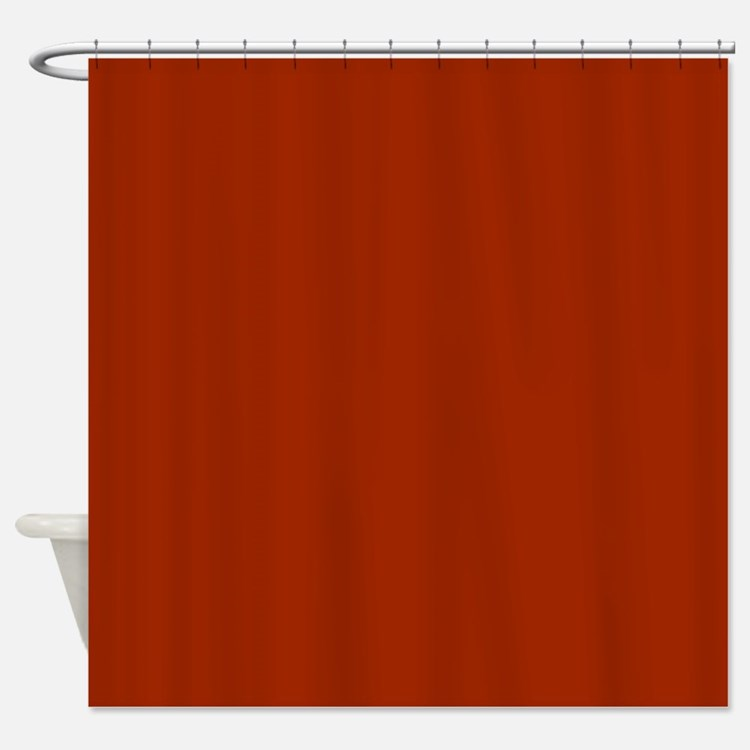 solid burnt orange shower curtain - Rust Color Curtains