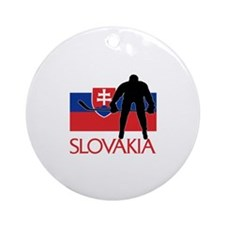 00-but-slov-hockey.png Ornament (Round)