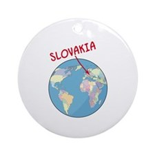 00-but-slovakia-globe.png Ornament (Round)