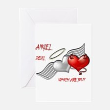 Angel Devil Which are YOU.JPG Greeting Cards