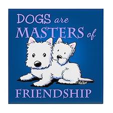 KiniArt DOGS Are Tile Coaster