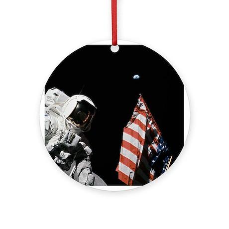 Apollo 17 Christmas Tree Ornament (Round)