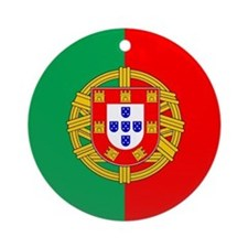 Portuguese Flag of Portugal Ornament (Round)
