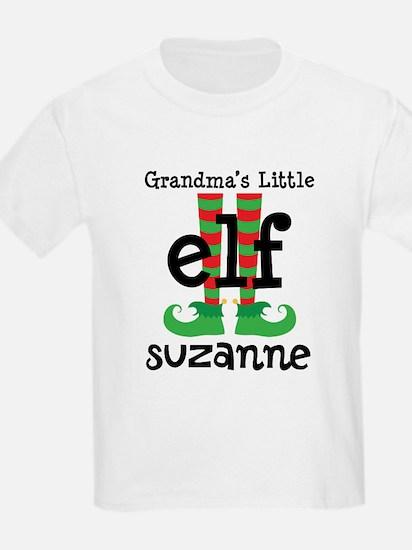 Grandmas Little Elf (personalized) T-Shirt