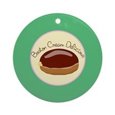 00-but-bostoncreme.png Ornament (Round)