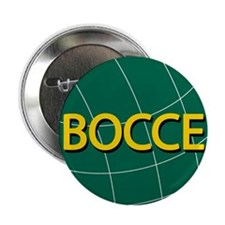 """00-bocce01green-ornR.png 2.25"""" Button"""