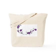Cute Purple flowers Tote Bag