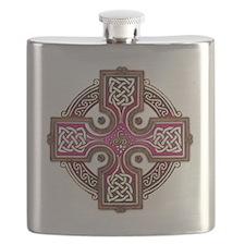 Pink Celtic Cross Triskellion Flask