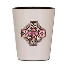 Pink Celtic Cross Triskellion Shot Glass