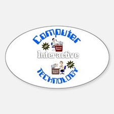 Interactive Computer Technology:-) Oval Decal