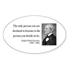 Ralph Waldo Emerson 2 Oval Decal