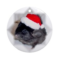 Ebony Chinchilla Ornament (Round)