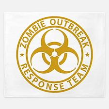 Zombie OutBreak Response Team Gold King Duvet