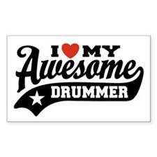 I Love My Awesome Drummer Decal
