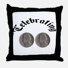 celebratingdoublenickle.jpg Throw Pillow
