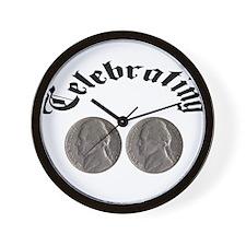 celebratingdoublenickle.jpg Wall Clock