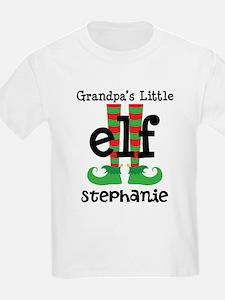 Grandpas Little Elf (personalized) T-Shirt