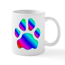 rainbow paw print Mug