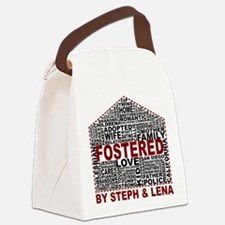Fostered by Steph and Lena Canvas Lunch Bag