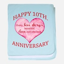 10th. Anniversary baby blanket