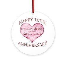 10th. Anniversary Ornament (Round)