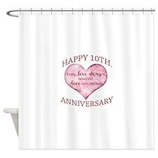 10th. Anniversary Shower Curtain