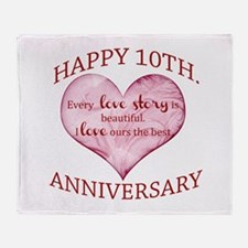 10th. Anniversary Throw Blanket