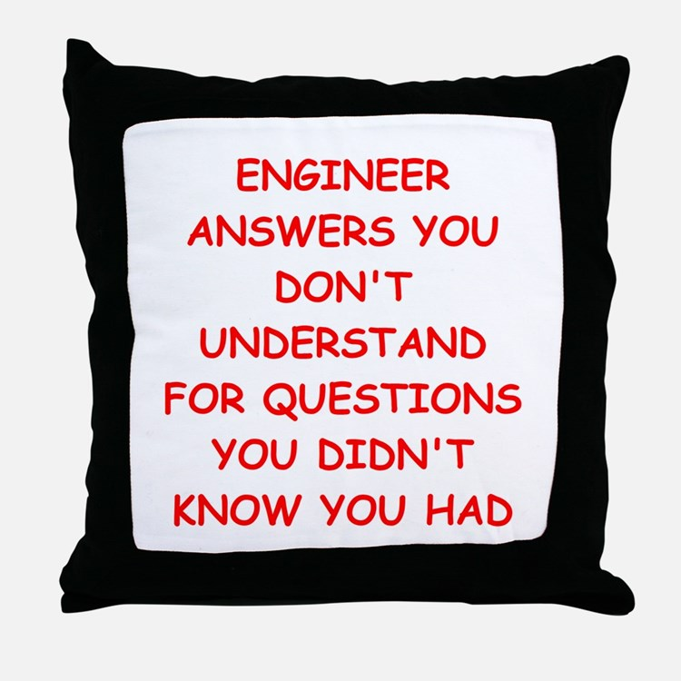 ENGINEER1 Throw Pillow