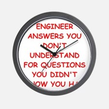 ENGINEER1 Wall Clock