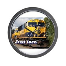 Just loco: Alaska locomotive Wall Clock