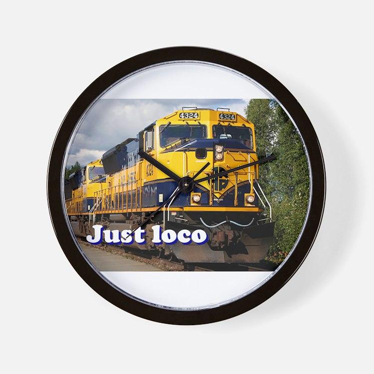 Just loco: Alaska locomotive Wall Clock