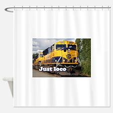 Just loco: Alaska locomotive Shower Curtain