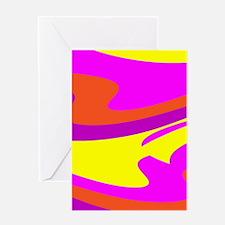 Pink Purple Wild Child Retro 23 Greeting Cards