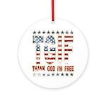TGIF Thank God I'm Free Ornament (Round)