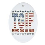 TGIF Thank God I'm Free Oval Ornament