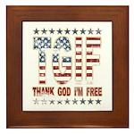 TGIF Thank God I'm Free Framed Tile