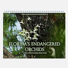 Florida's Endangered Orchids Wall Calendar