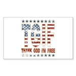 TGIF Thank God I'm Free Rectangle Sticker