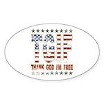 TGIF Thank God I'm Free Oval Sticker